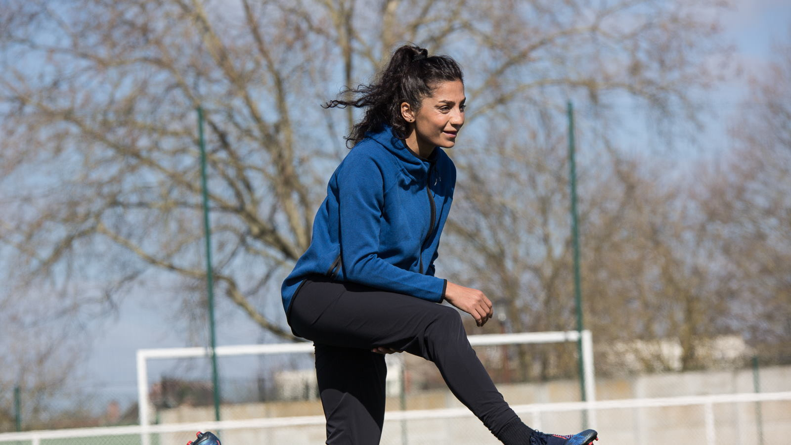 Nadia Nadim in training